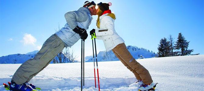 verliefd wintersport