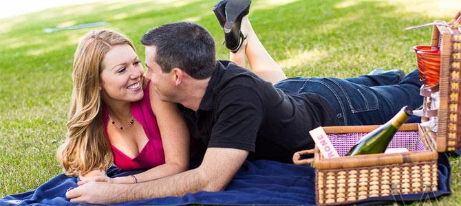 vakantie date picknick