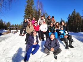 Singlereizen besneeuwd Lapland